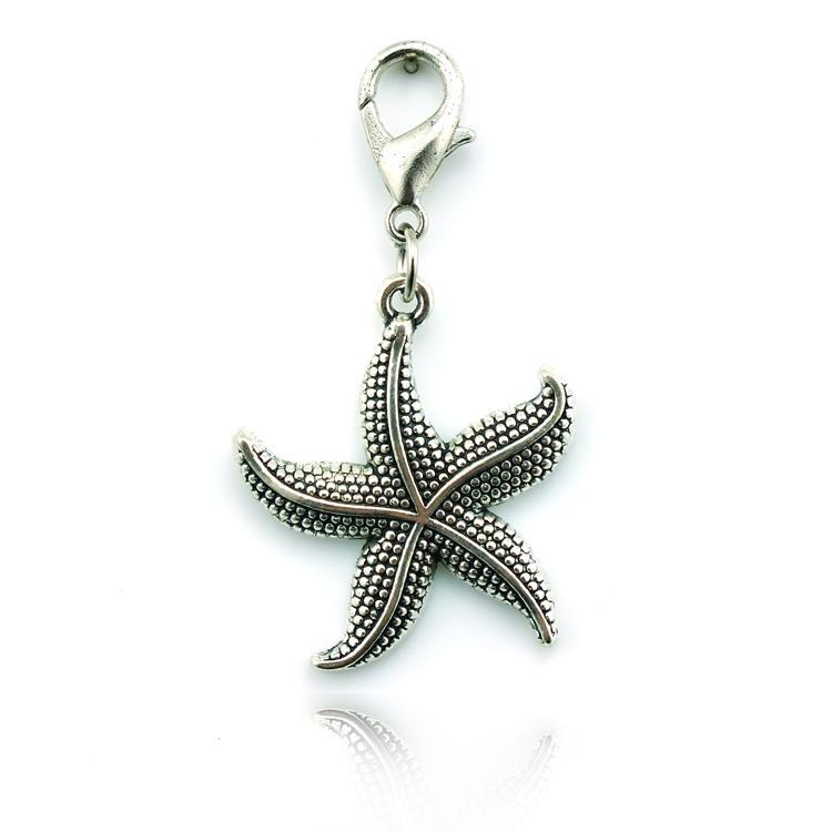 Nowo Floating Charms Wielofunkcyjny Breloczkowy Rozgwiazda Retro Brąz Biżuteria Wisiorek Darmowa Wysyłka