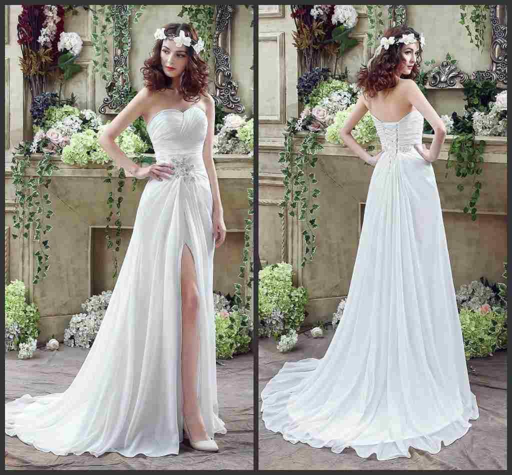 Discount Garden Wedding Party Bride Dresses Sweetheart Crystal ...