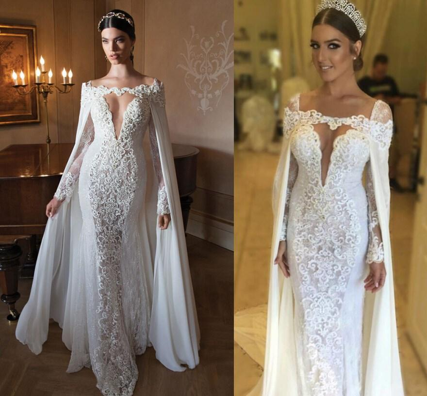 Berta Bridal Gowns 2015 Lace Wedding Dresses Two Pieces Long Sleeves ...