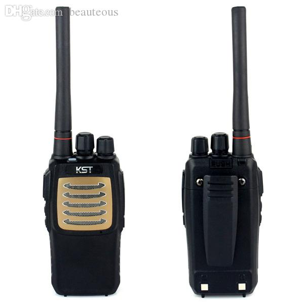 Wholesale-100% New Golden Panel Portable Ham CB Radio Walkie Talkie KST K9  UHF 400-470MHz 48CH 7W VOX TOT Cable Clone Two Way Radio