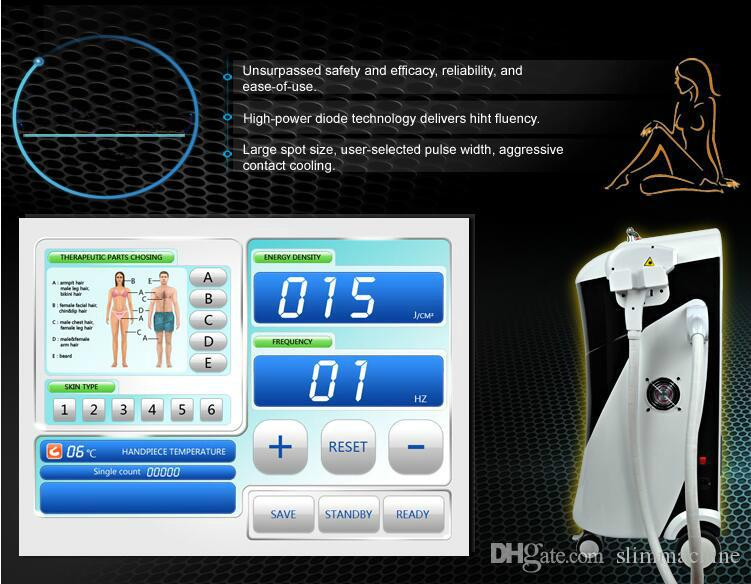 2018 NEWEST !! Germany Bars 450W Professional 808nm Diode Laser Hair Removal / laser body hair removal For SPA Salon Use