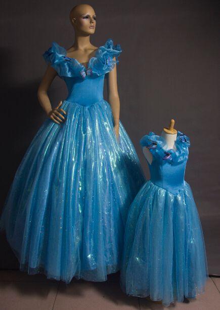 03902e40c0 Acheter 2015 Nouvelle Cendrillon Filles Robe Cendrillon Papillon Robe  Cendrillon Robe Fête Pour Enfants Princesse Cendrillon Cosplay Costume  Déguisement De ...
