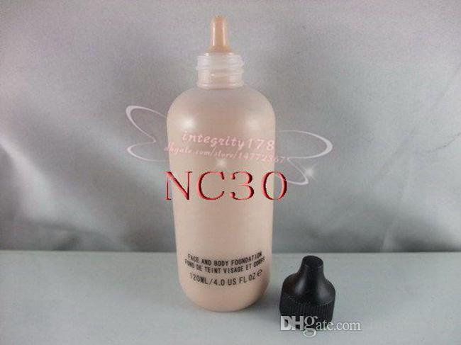 스튜디오 얼굴 및 바디 파운데이션 120 ml 4oz 6 색상 : NC15 NC20 NC 25 NC30 NC35 NC40
