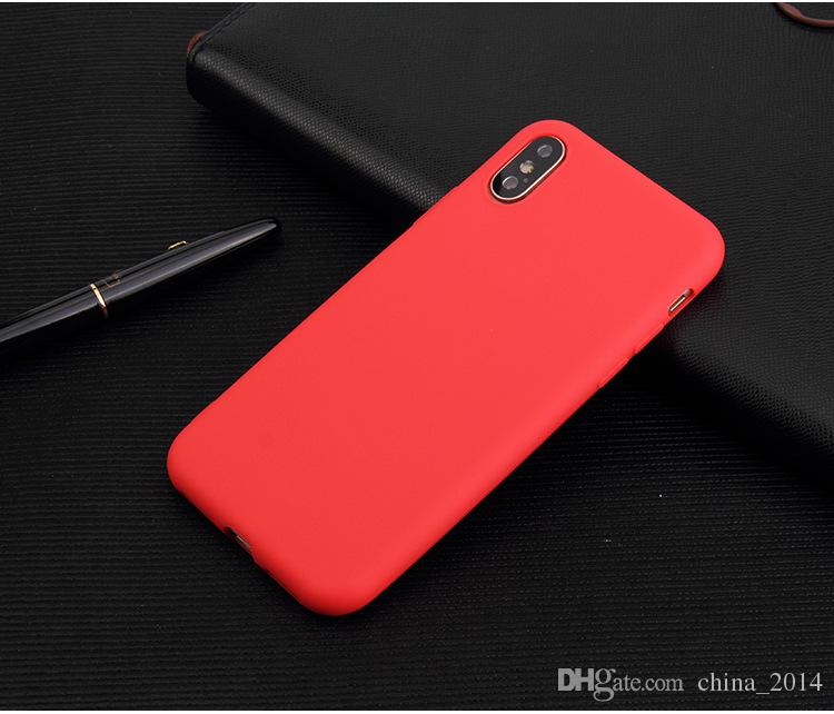 Ultra Thin TPU Soft Case matte TPU case Cellphone protective Cover candy color Cover case free shipping For iphone XS max XR X 8 7