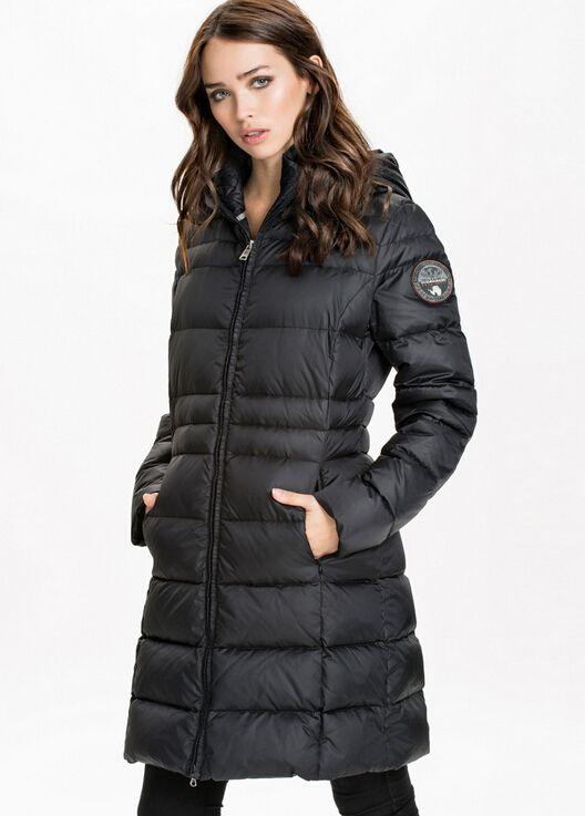 Discount Napapijri Geographic Women Down Jacket Long With Hood ...