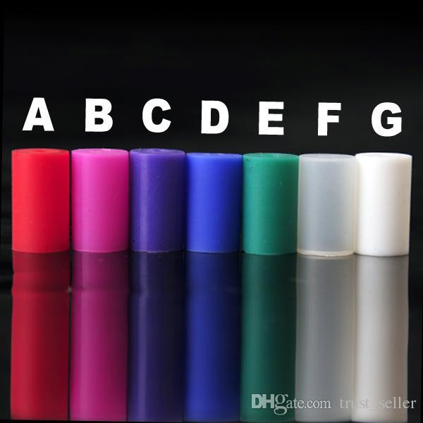 Tampão colorido da ponta do gotejamento do teste Tampa descartável Dustproof do boné da tampa do silicone do tampão do atomizador tampão macio com embalagem individual para o atomizador do ego MT3