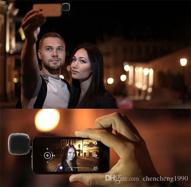 NEUE Universal 3,5 mm Klinke Mini LED Kamera Blitz Einfüllen Extra Licht Blitzlampe für Handy mit Kleinkasten geben Verschiffen frei