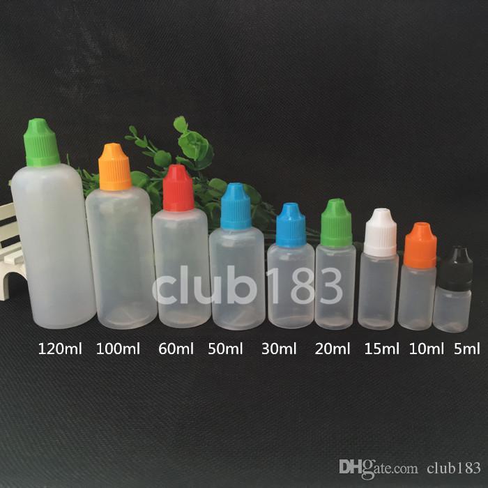 سعر المصنع زجاجة إبرة زجاجة بلاستيكية بالقطارة زجاجة فارغة 20ML زجاجات بلاستيكية مع نصائح رقيقة طويلة للسائل E