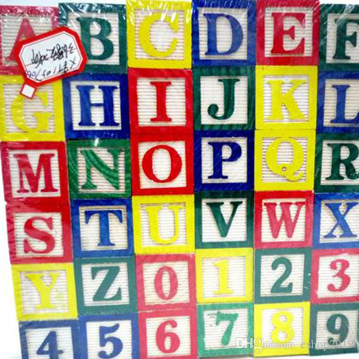 1 X Alphabet Letter Educational Wooden ABC Blocks For Kids Childs Educational Game Puzzle Toy Learn Read Spell