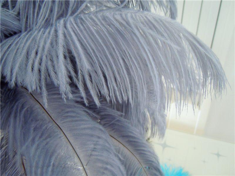 TRASPORTO all'ingrosso-libero 100 pz / lotto 12-14 pollice 30-35 cm piume di struzzo grigio centrotavola centrotavola centrotavola