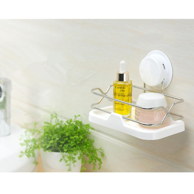 Bathroom Accessories With Suction Cups online cheap bathroom storage shelf suction cup stainless steel