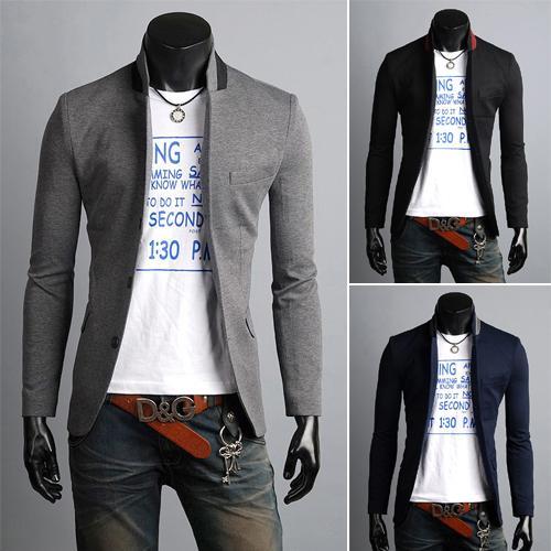 2014 Formal Blazer Suits Men Casual Jacket Blazer Trench