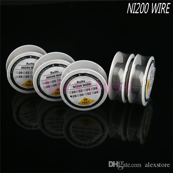 Ni 200 nickel wire Ni200 Wire heating resistance coil wick 30 Feet Spool AWG 22 24 26 28 30 32 Gauge For RDA Vape DHL