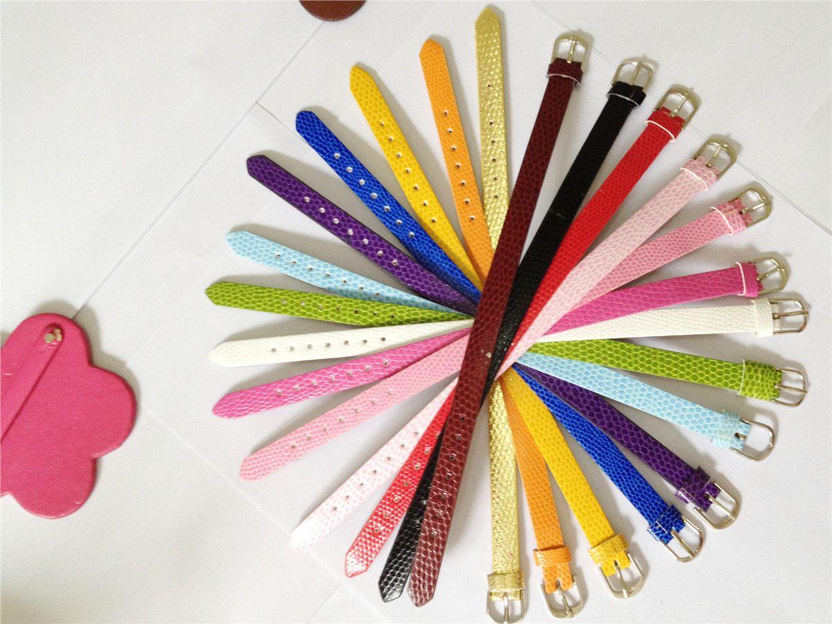 Zoukane Sales 10MM PU Leather DIY Snake Charm Wristband Bracelets DIY Accessory Fit 10MM Slide Letter /Slide Charms WB01-2