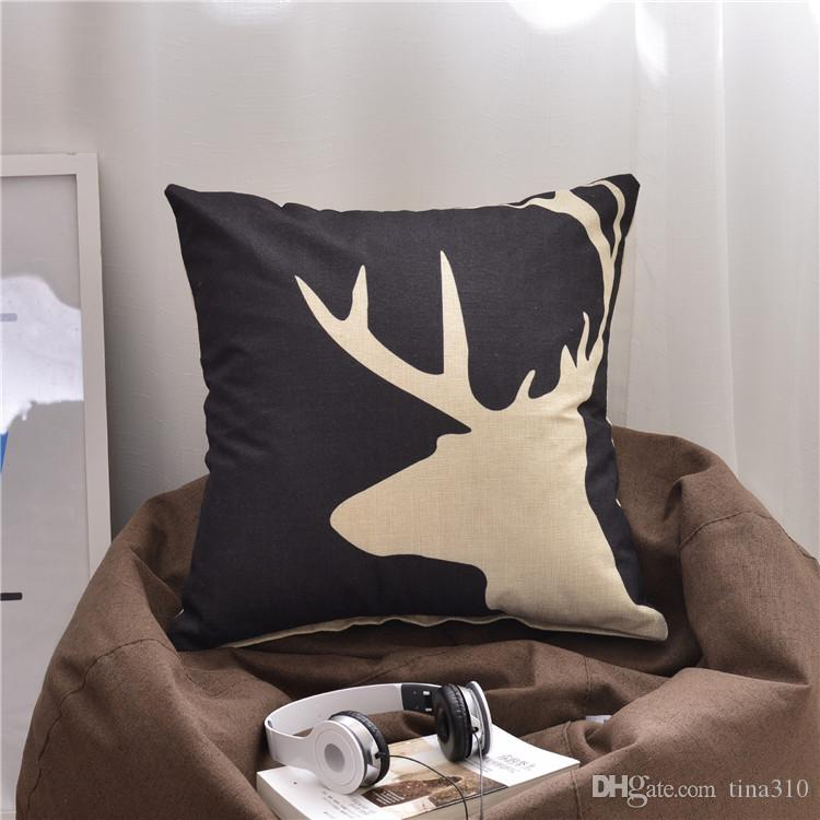 New 45*45cm abstraction Geometric patterns living room sofa Pillow case Office chair Cushion cover Cartoon Pillowcase IA988