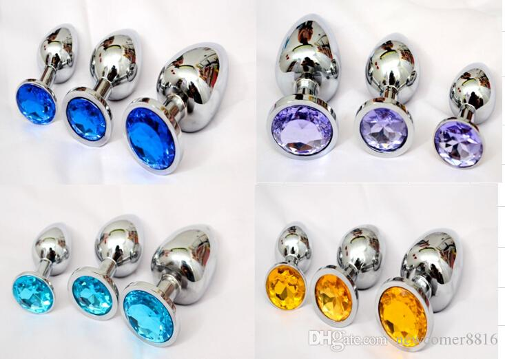 Stainless steel butt plugs dildos