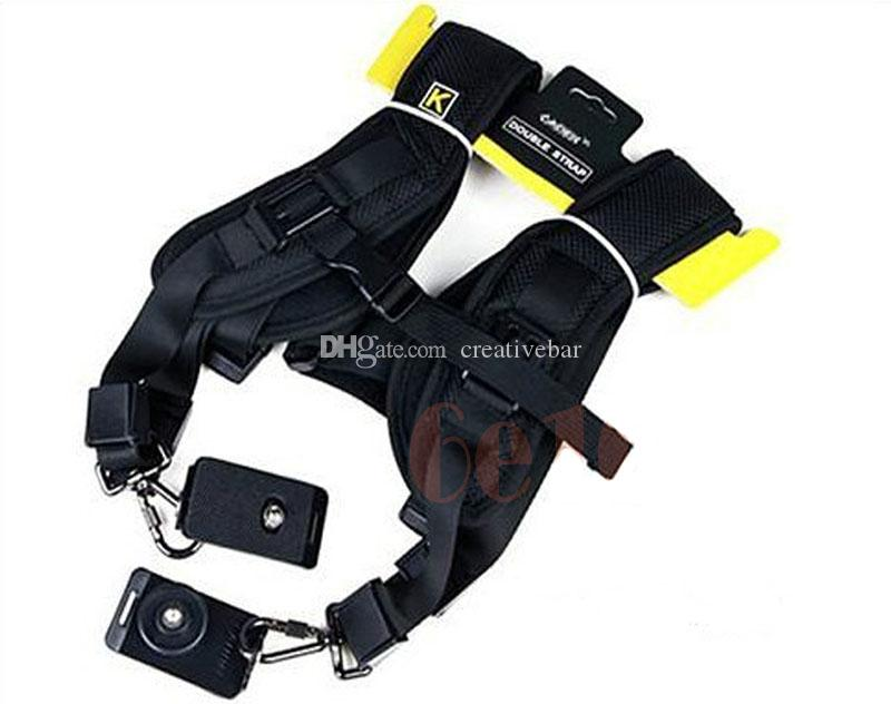 Atacado - Double Shoulder duplo Strap Belt Holster para DSLR Camera Canon Nikon Sony