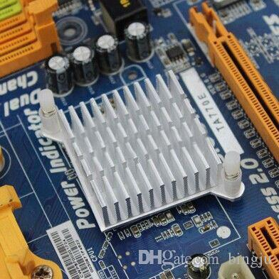 Wholesale-LED IC Silver Heat sink For Chip CPU Computer North Bridge Coolers Cooling Aluminum Heatsink Radiator 40x40x13mm