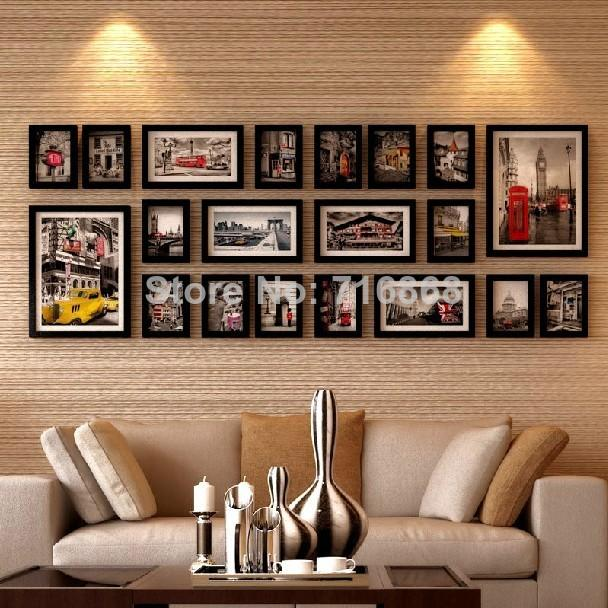 Wall Frames Set best black 2015 good wood wall frames picture frame ideas used for