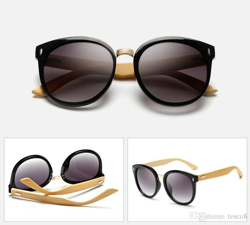Wholesale prices Bamboo Foot Popular Retro Sunglasses UV400 Resin Lenses Summer Sunshade Glasses Dazzle Colour Protection Eyeglasses Cheap