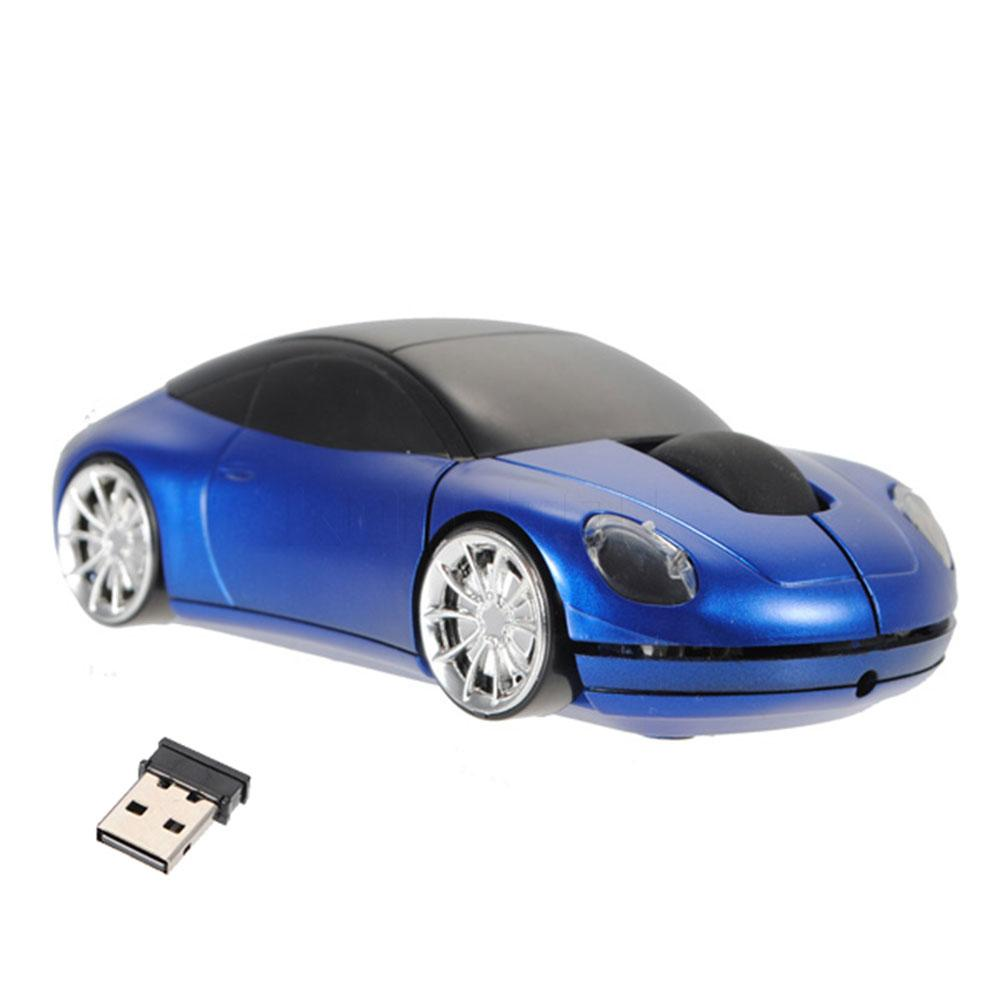 Wholesale Brand New Top Quality Blue 3d Car Shaped 24g Wireless Mouse Iron Man Game 1600dpi Usb Optical Mice For Computer Laptop Notebook Pad Hub