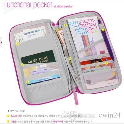 X Travel Passport Credit ID Card Cash Wallet Purse Holder Case Document Bag Organizer Wallet Purse