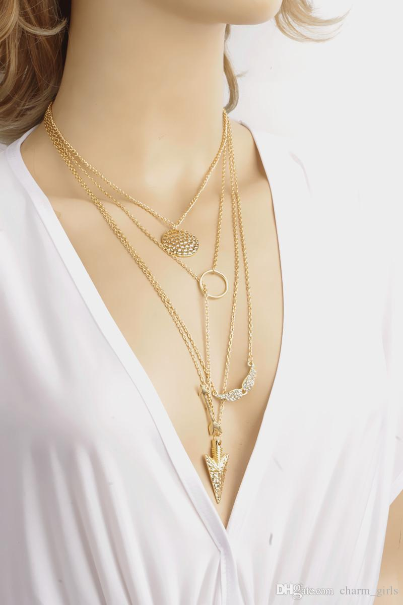 2016 Hot Sale Women/girls Necklaces Lady Multi-layered Necklace ...