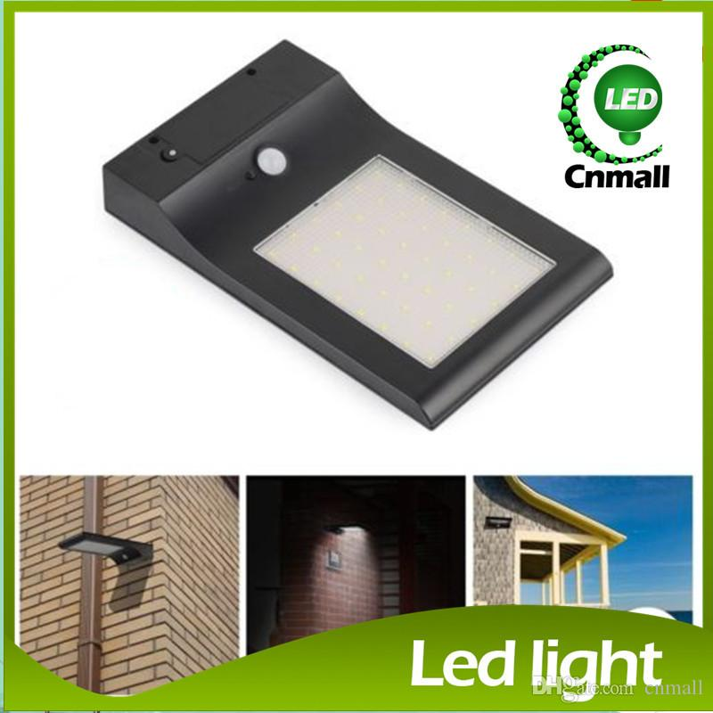 Solar LED Wall Light Outdoor Wall Light Garden Thin Solar Lamp 48LED 5W  Super Bright Solar ...