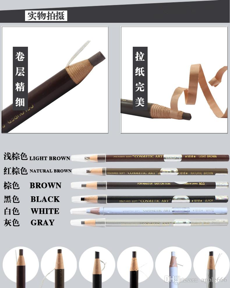 New Mix Color Temporary Tattoo Eyebrow Pen Pencil Waterproof Eyebrow