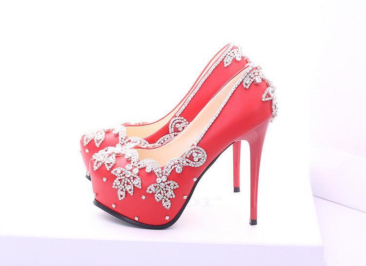 Single Heart Bride Custom Shoes 118