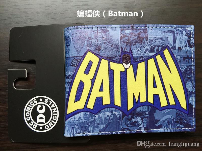 Comics DC Marvel Cartoon Anime Wallets Batman Superman Famous Brand Wallet Luxury Designs Leather Card Holder Purse