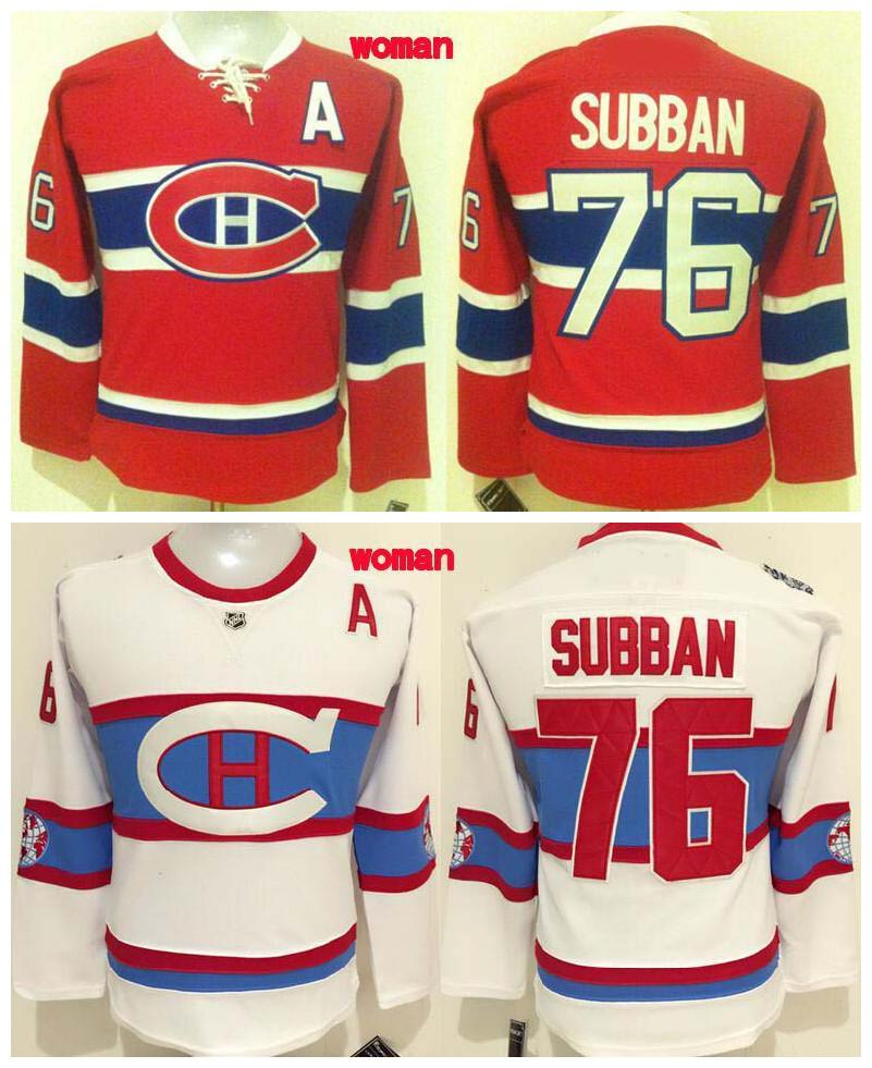 ... Home Stitched NHL Jersey 2017 Womens 2016 Winter Classic Montreal  Canadiens Ice Hockey Jerseys Cheap 76 P.K Subban Red White ... 92b9ad66c