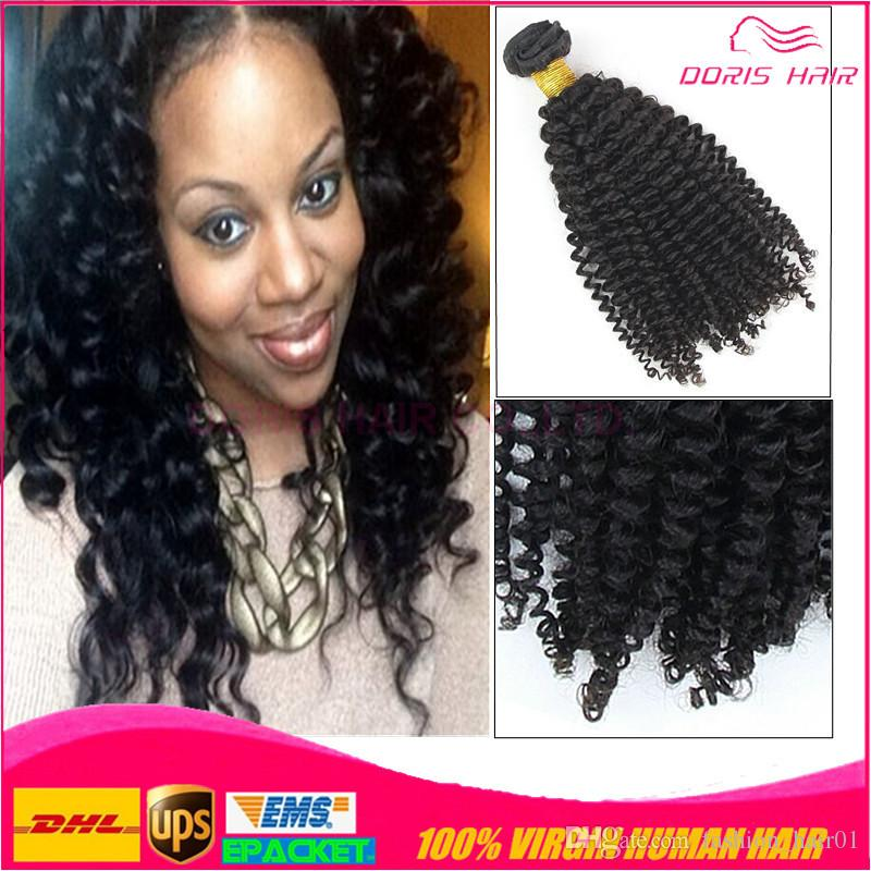 100 Human Hair Afro Kinky Curly Sew In Hair Weave Virgin Human Hair