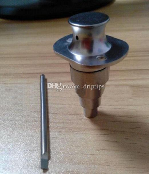 Universal 6 in 1 Honey Bucket Titanium nail 10mm & 14mm &19mm Adjustable Female and Male with baseball hat Carb Cap for Glass Bong in stock