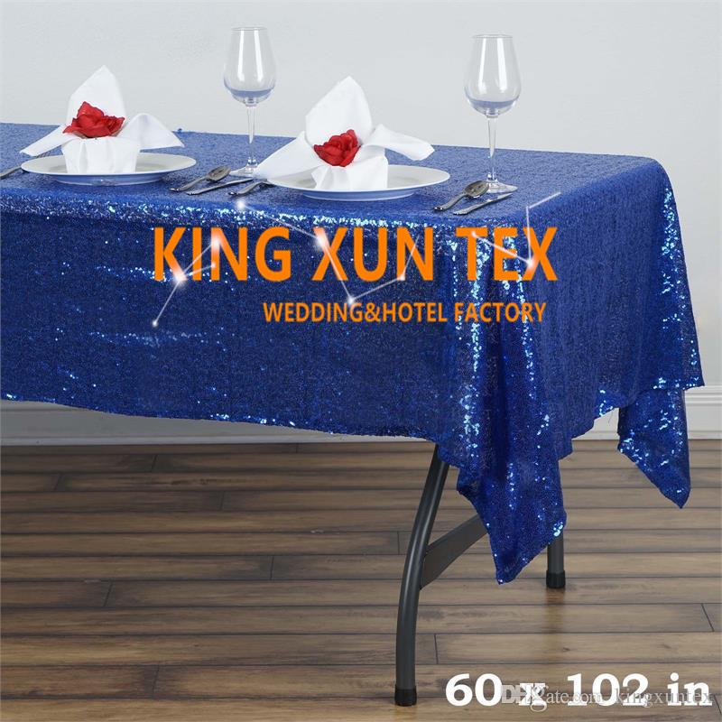 """Hot Sale 60"""" by 102"""" Rectangular Sequin Table Cloth For Party And Event Decoration \ Cheap Wedding Tablecloth"""