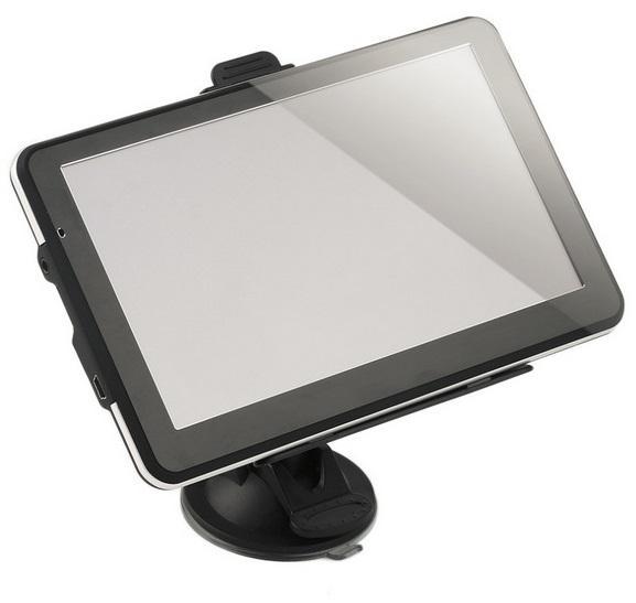 7 pulgadas GPS portátil 718N HD 800 * 480 Sistema de navegación Bluetooth AVIN Capacit Pantalla FM 8GB / 256MB Vehículo Camión GPS Guía de mapas GPS