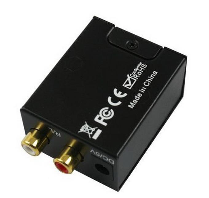 2015 Hot Sale Digital Adaptador Optic Coaxial RCA Toslink sinal de áudio analógico conversor cabo adaptador grátis com pacote de varejo