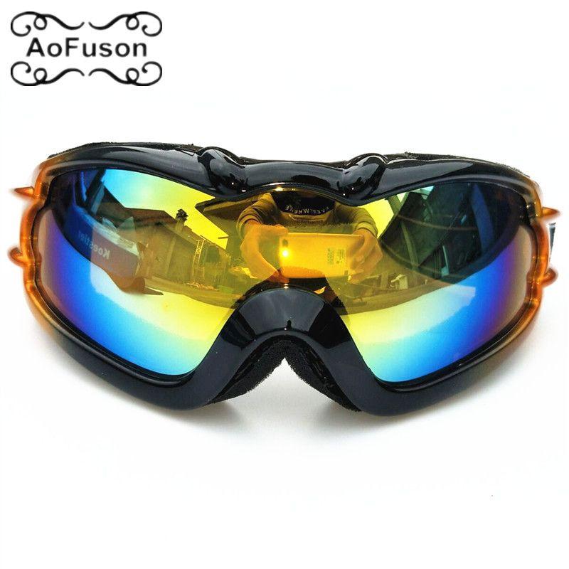 196937911584 Winter Brand Adult Ski Goggles Snow Windproof Eyewear Motocross ...