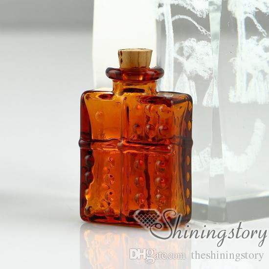 Kolye için küçük cam flakonlar hatıra kremasyon çömleği takı külleri pet urns takı külleri