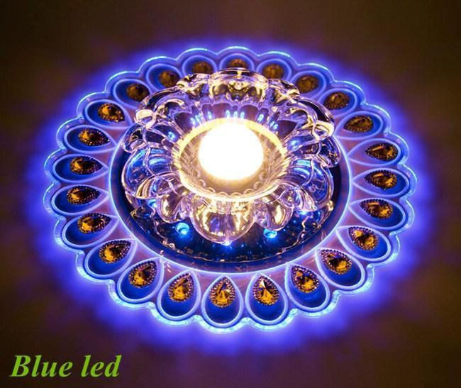 Frete grátis 3 W CONDUZIU a lâmpada do teto de cristal para a entrada LED de Cristal Da Lâmpada Do Teto de iluminação