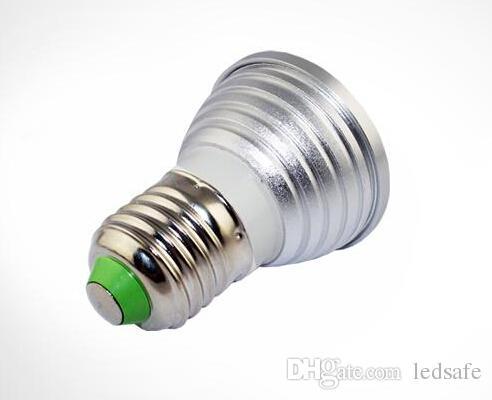 RGB Milti Color LED Spotlight Bombillas 3W E27 E14 GU10 GU5.3 Base Lighting Spot Lights AC 85-265V with Remote Controller Changing