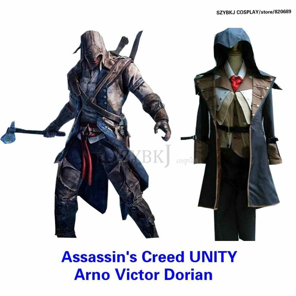 Assassin Creed Hood Jacket! Arno Victor Dorian Cosplay Costume ...