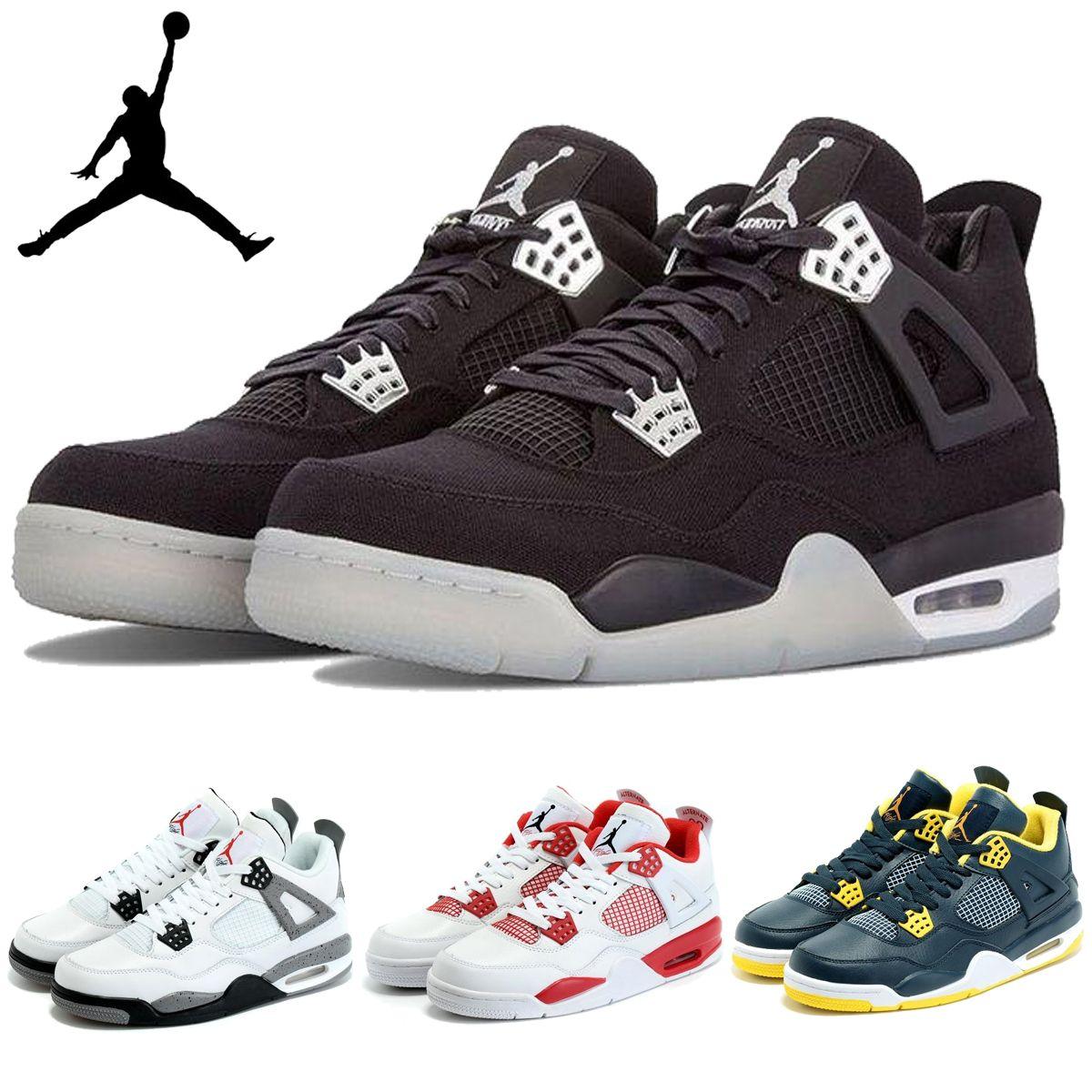 size 40 e71ba f743d Acquista Nike Air Jordan 4 IV Retro Scarpe Alternativo 89 Bianco Nero  Palestra Rosso Mens Basketball Sport AJ4 Jordan Shoes Jordan J4 Sneakers A   101.53 Dal ...
