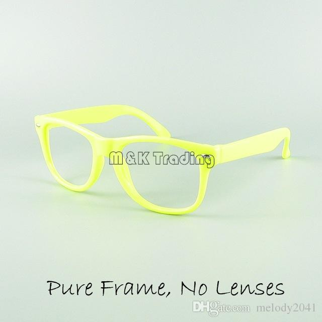 Niños Marco de Gafas Niños Juguete Divertido Gafas de Sol Marco es de Caramelo Sin Lente Decoración de Moda Anteojos