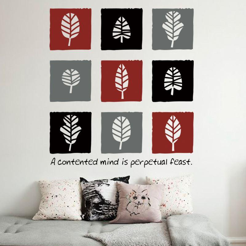 White tree sticker home decoration pvc creative leaves wall sticker waterproof vinyl plant house decor wall decals for living room my wall stickers my wall