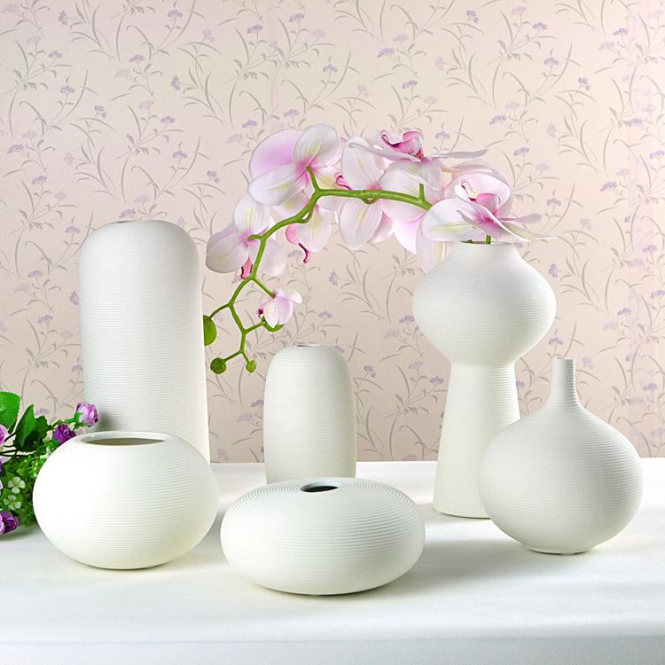 ceramic vase ornaments insert small white vase creative home, Hause deko