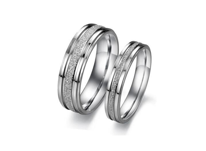 Grosshandel Neu Kommen 316l Titan Edelstahl Paar Liebhaber Ring