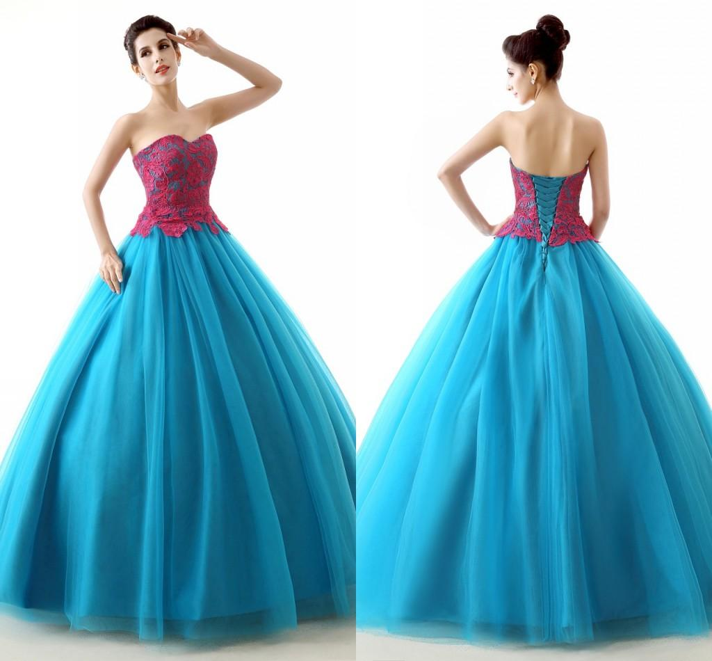 Red Blue Prom Dresses – fashion dresses