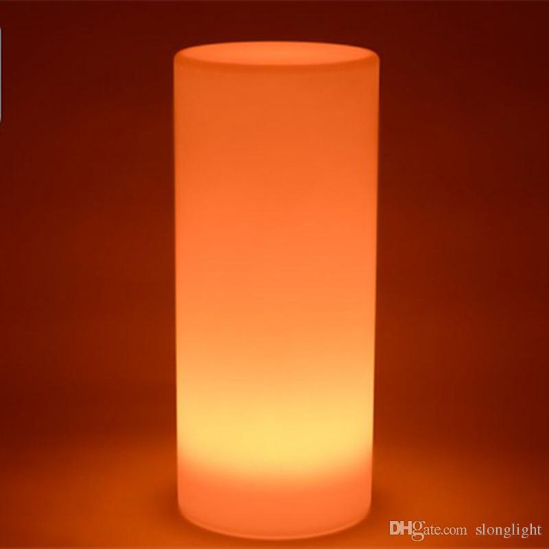 Spedizione gratuita meraviglioso LED Tower Pillar piccola lampada da terra Cilindro esterno rotondo luci della colonna di illuminazione di paesaggio all'aperto