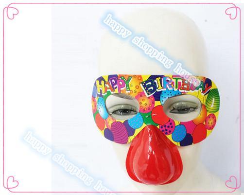 Yetişkin ve çocuk Için 30 adet Ücretsiz kargo Cadılar Bayramı partisi doğum günü partisi malzemeleri kağıt maske burun gözlük çocuk tuhaf sahne